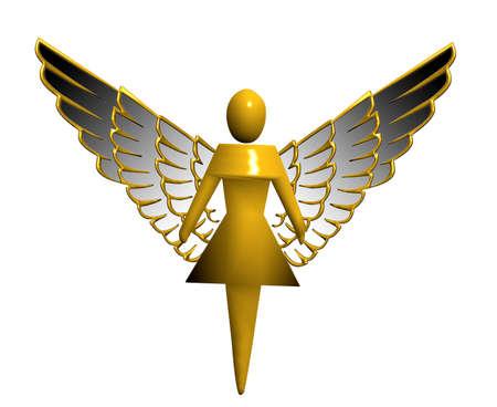 angel de la guarda: �ngel de Navidad dise�ado por la parte superior de un �rbol  Foto de archivo