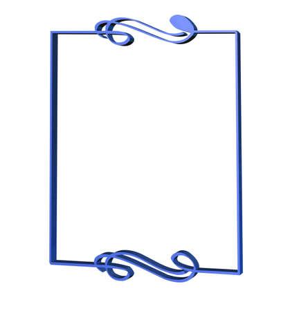 art deco frame: Art deco frame with a musical motif