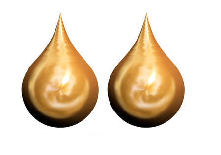 heartsick: Golden l�grimas en 3D similar a la iglesia c�pulas Foto de archivo