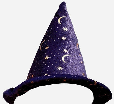 Wizards hat to fit your picture of someone Stock Photo