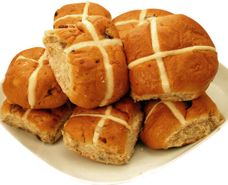 Hot cross buns traditional for christians to eat          photo