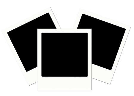 Trio of polaroids with a flag effect Stock Photo