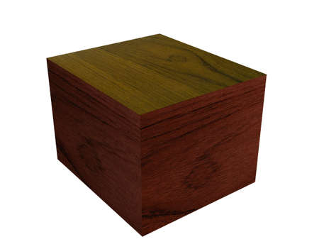 Wooden box with grain effect good plinth