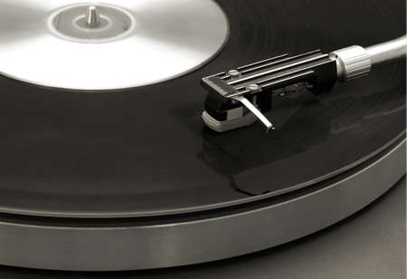 Platinum or vintage style photo of a turntable Stock Photo - 2894532