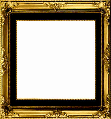 Antique Gilt Frame To Set Off Your Pictures Stock Photo, Picture And ...