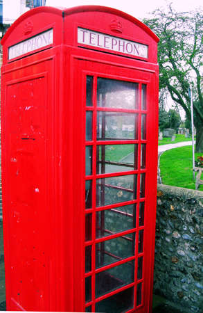 Art deco telephone box in early cross color process Stock Photo - 2909208