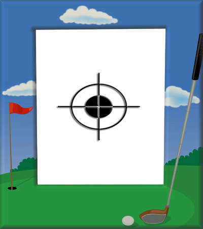 Target golf frame for sport fans everywhere photo
