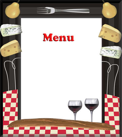Frame menu style for your catering needs  Stock Photo