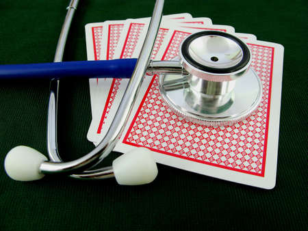 Gambling with your health? Get a check-up! Stock Photo - 3089355