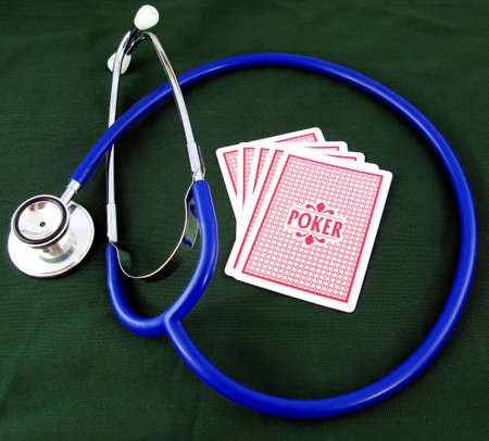Gambling with your health? Get a check-up. Stock Photo - 3089359
