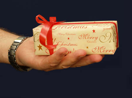 Christmas gift giving or recieving you decide            Stock Photo