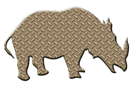 plated: Rhino armor plated giving a symbol of strength