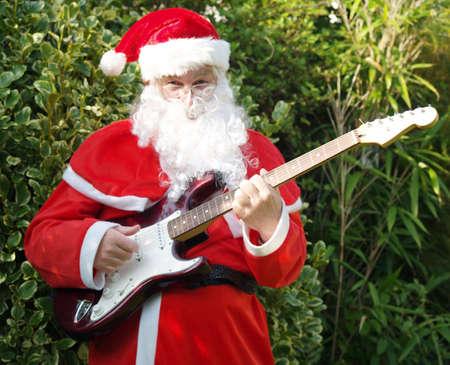 Santa rocks! de slogan van de jongeren van vandaag
