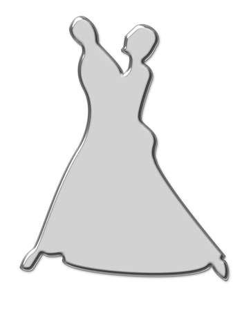 Wedding invitation in silver artistic bell shape Stock Photo - 3736906