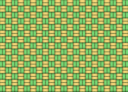 Woven table cloth design in gold and green Stock Photo - 3814288
