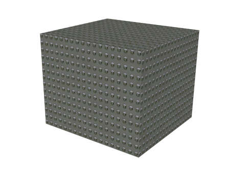 Solid strong box in 3D showing strength Stock Photo - 3852196