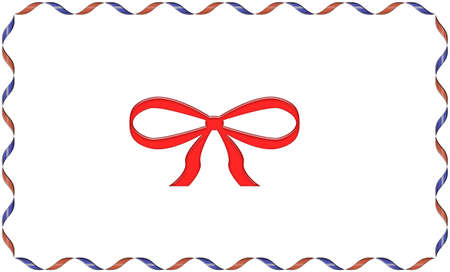 Ribbon and bow frame for christmas text Stock Photo - 3871241