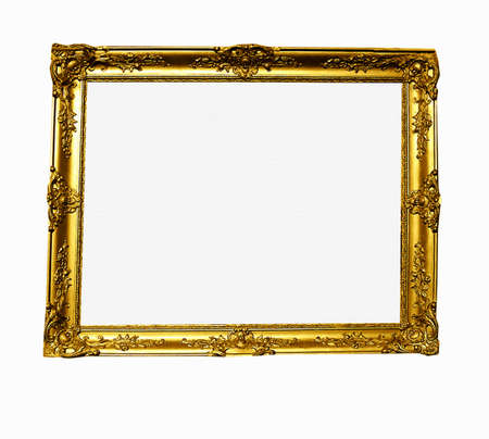 Gilt Frame  with blank canvas antique gold