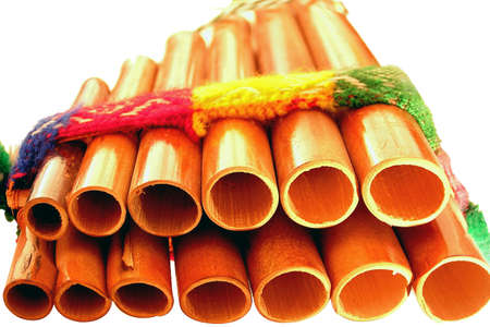 panpipe: Latin american Pan Pipes   made from bamboo