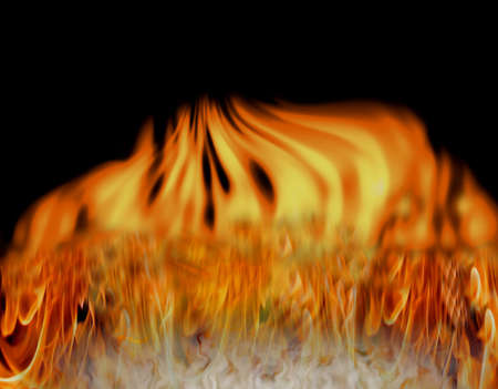 eye catching: Artistic fire and smoke making eye catching background Stock Photo