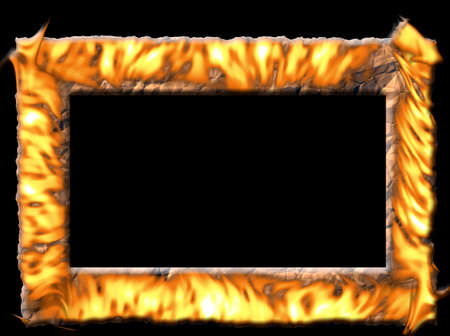 Frame of fire for your hot pictures Stock Photo - 4316688