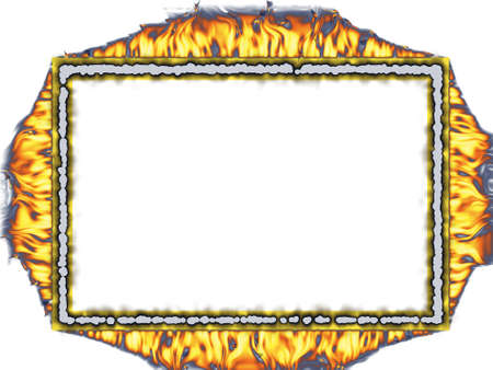 Firey frame for all your hot pictures Stock Photo - 4316653