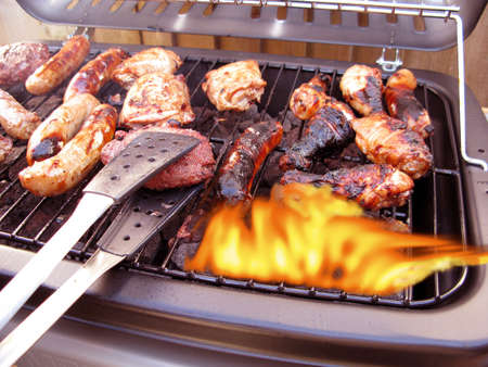 kabab: Summer barbecue giving all the flavor of summer Stock Photo