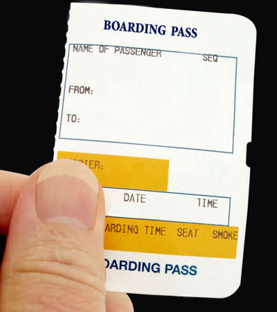 Boarding Pass for any form of transport photo