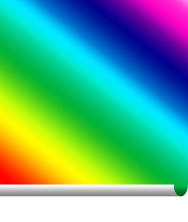 hardcover: Pasteing a rainbow of colour with a curl