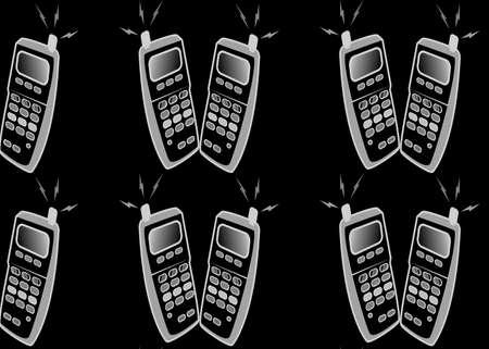 Mobiles makinmg a vibrant background in black Stock Photo - 5683232