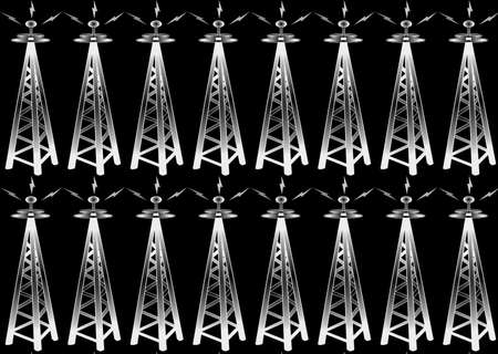 Transmitters with signals backgound wallpaper in black photo