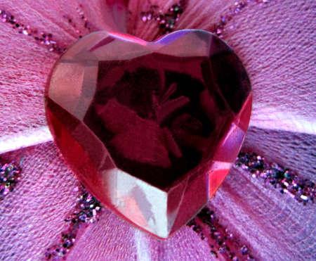 lasting: Ruby anniversary heart token of lasting love                                Stock Photo