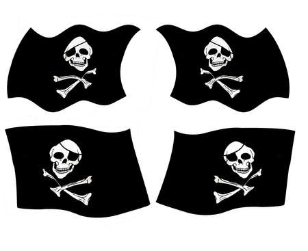 Pirate flags skull and crossbones and eye patch Stock Photo - 6380735