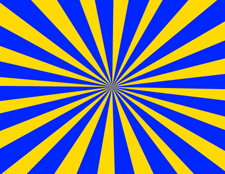 Starburst in yellow and blue retro appeal