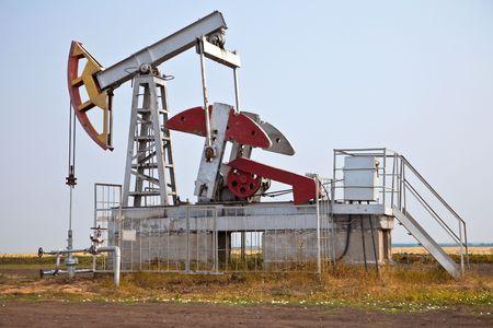 Industrial oil pump photo