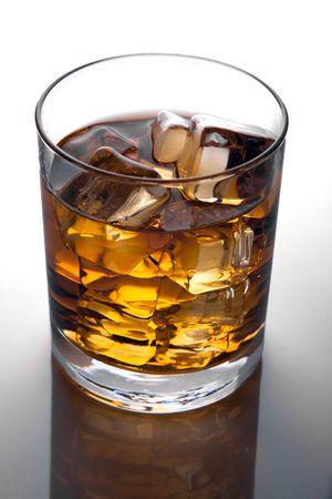Glass of scotch whiskey and ice  Standard-Bild