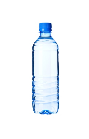 Bottled water isolated over a white background