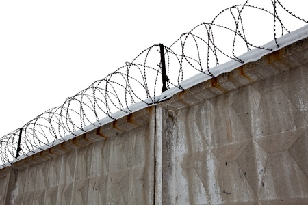 Razor Wire Above a Fence Stock Photo - 12885292
