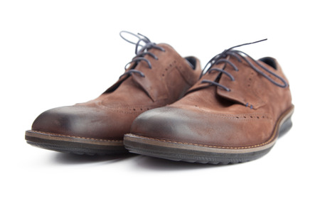 brown pair leather shoes for men Stock Photo