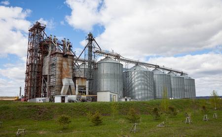 rural elevator on field in Russia
