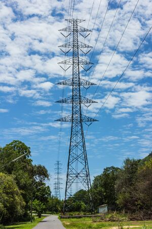 A large electric post in rural areas  photo