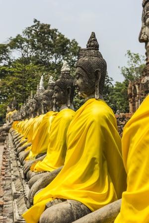 ayuthaya: Buddha old at ayuthaya in thailand Stock Photo