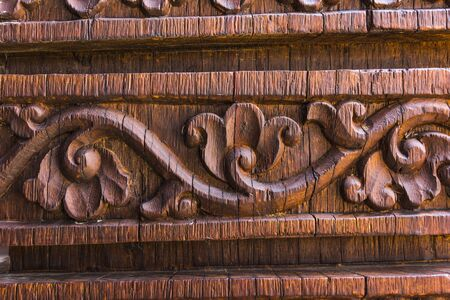 bark carving: sculpture carved of wood in Thailand