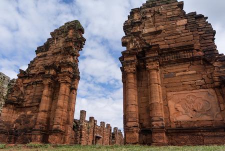 Entrance door to the church - San Ignacio - Mini mission Jesuits ruins, Misiones Argentina