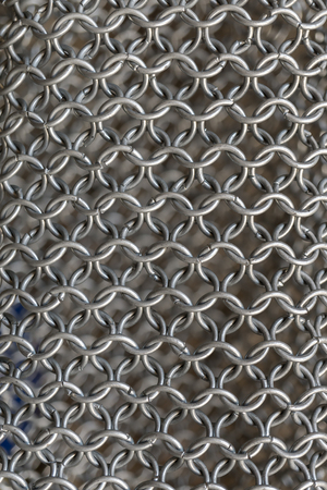 a war historian: Texture of chainmail of a medieval armor knight, Pattern, background, closeup, detail