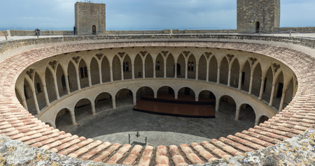 Dusk on top of Bellver Castle, Mallorca