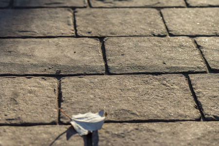 Stamped concrete pavement outdoor, cobblestones pattern, flooring exterior, decorative appearance colors and textures of paving cobble stone