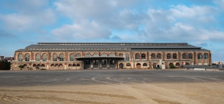 old workshop building to the iron industry in Puerto Sagunto at Valencia spain blast furnace
