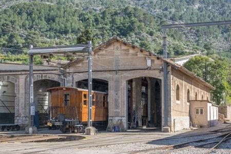 Vintage train in Soller, Mallorca, Spain