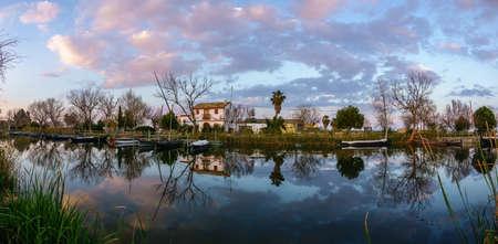 Albufera nature reserve in Catarroja Valencia Spain